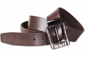 Rimbaldi® - Jeans Full leather belt with solid metal buckle and made from buffalo leather with natur