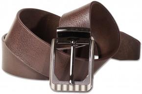 Rimbaldi® -  Jeans Voll-Ledergürtel mit masssiver Metallschnalle aus Büffelleder mit natürlicher Oberfläche in Dunkelbraun